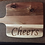 "Thumbnail: Large ""Cheers"" Serving Platter/Cutting Board"