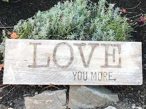Woodburned Rustic Farmhouse Love