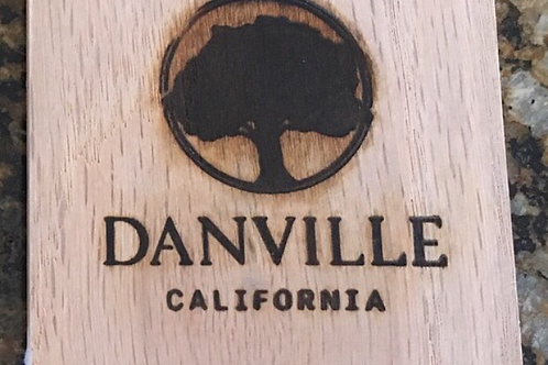 Danville, CA Wooden Coasters (Individual)
