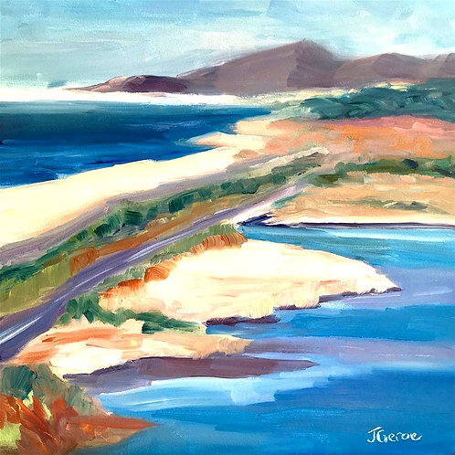 Ponto Beach, Original Plein Air Oil Painting