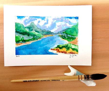 Lake Hodges Watercolor