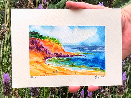 La Jolla Cove Original Watercolor