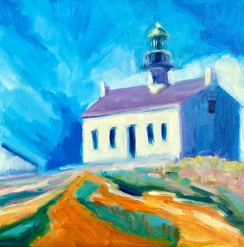 Point Loma Lighthouse, San Diego, Giclee of Original Plein Air Oil Painting