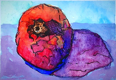 Pomegranate, Giclee of Original Watercolor Painting