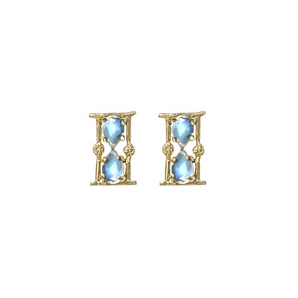 """AMULET """"TIME"""" HOURGLASS STUDS"""