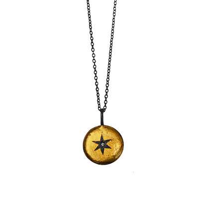 ROUND WRAPPED STAR PENDANT