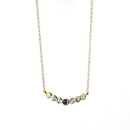 LUNAR PHASE DIAMOND NECKLACE