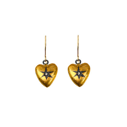 HEART WRAPPED STAR EARRINGS