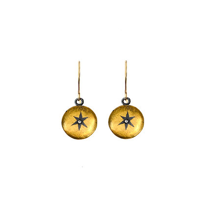 ROUND WRAPPED STAR EARRINGS