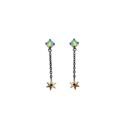 STELLAR CHAIN DROP EARRINGS SHORT