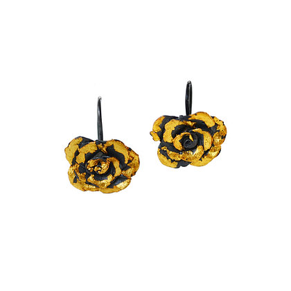 LARGE ROSE EARRINGS