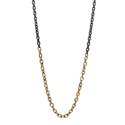 RAW TIGHT OVAL CHAIN NECKLACE