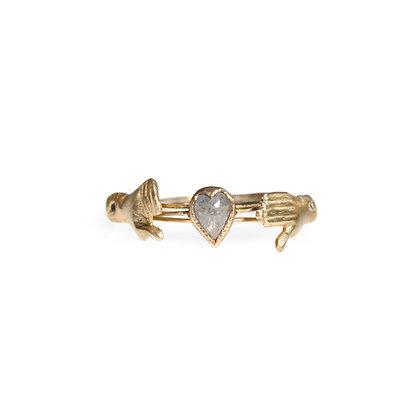 ACANTHUS FEDE GIMMEL DIAMOND RING 14K