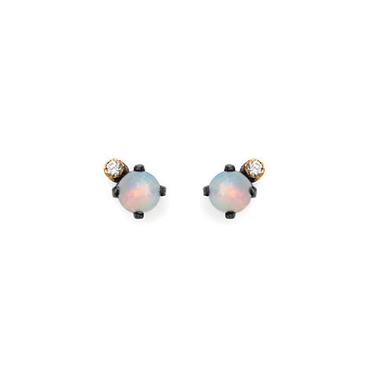 PRONG AND DIAMOND EARRINGS