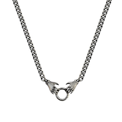 DOUBLE HAND CHARM HOLDER NECKLACE
