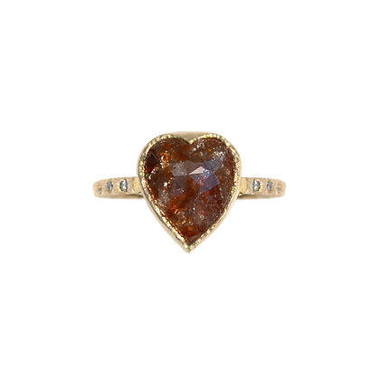 RUSTY HEART ONE OF A KIND DIAMOND RING