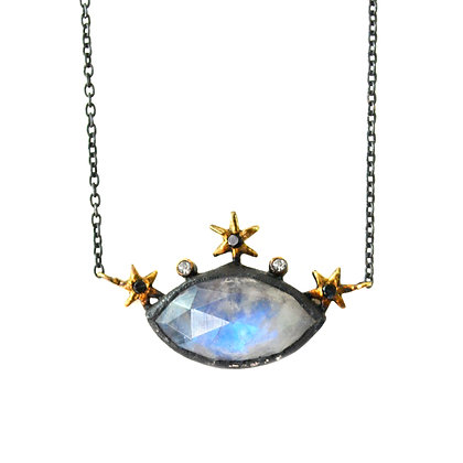 STARRY EYE MOONSTONE NECKLACE