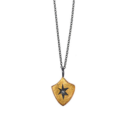 SHIELD WRAPPED STAR PENDANT