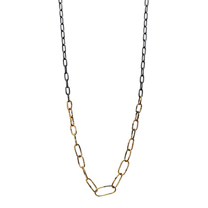 RAW GRADUATED OVAL CHAIN NECKLACE