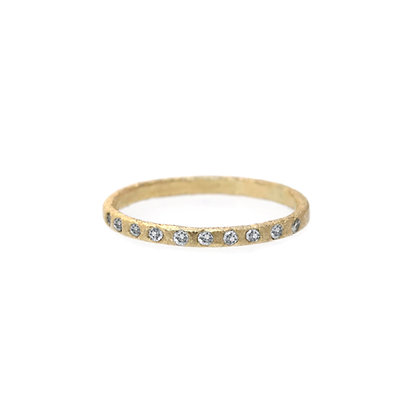 STARDUST DIAMOND BAND 14K