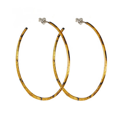 GOLD LARGE SICKLE HOOPS