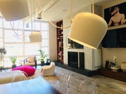 Cabbagetown LOFT Renovation- FLOS Aim LED lights- Living Room- LYONS CONSTRUCTION