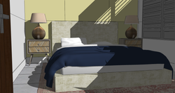 FIJI Cottage- Interior Rendering of the new Bedroom