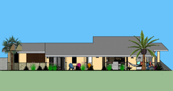 FIJI Cottage- Exterior Rendering of the House