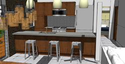 FIJI Cottage- Interior Rendering of the new Kitchen