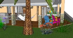 FIJI Cottage- Exterior Rendering of the Garden