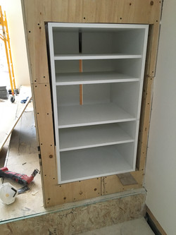 Cabbagetown LOFT Renovation- New Stereo Equipment Cabinet- LYONS CONSTRUCTION