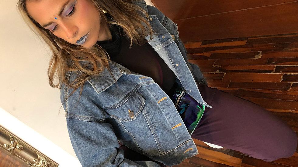 Casaca de jean flecos
