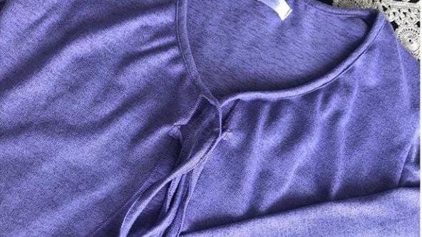 Cardigan lila manga larga