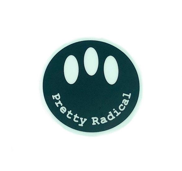 Pretty Radical Sticker - Black