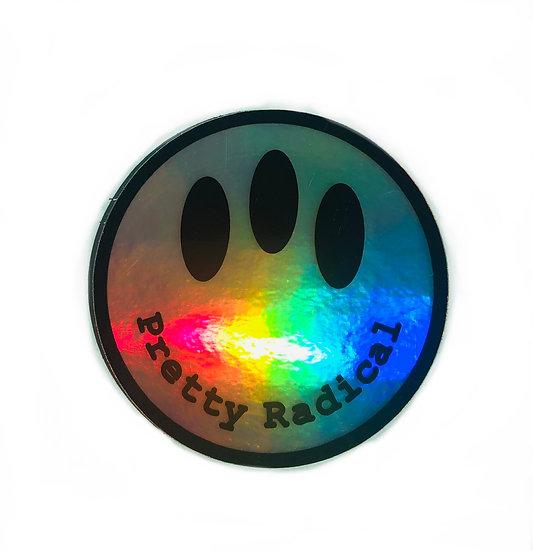 Pretty Radical Sticker Holographic