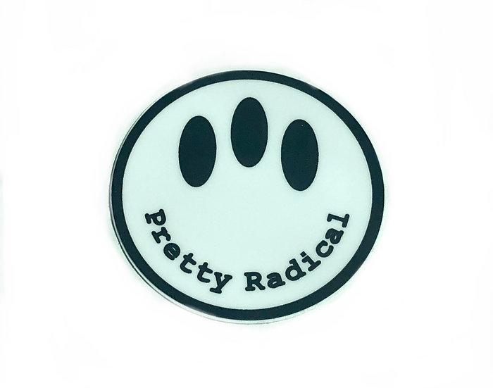 Pretty Radical Sticker - White