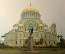 памятник Ушакову в Кронштате