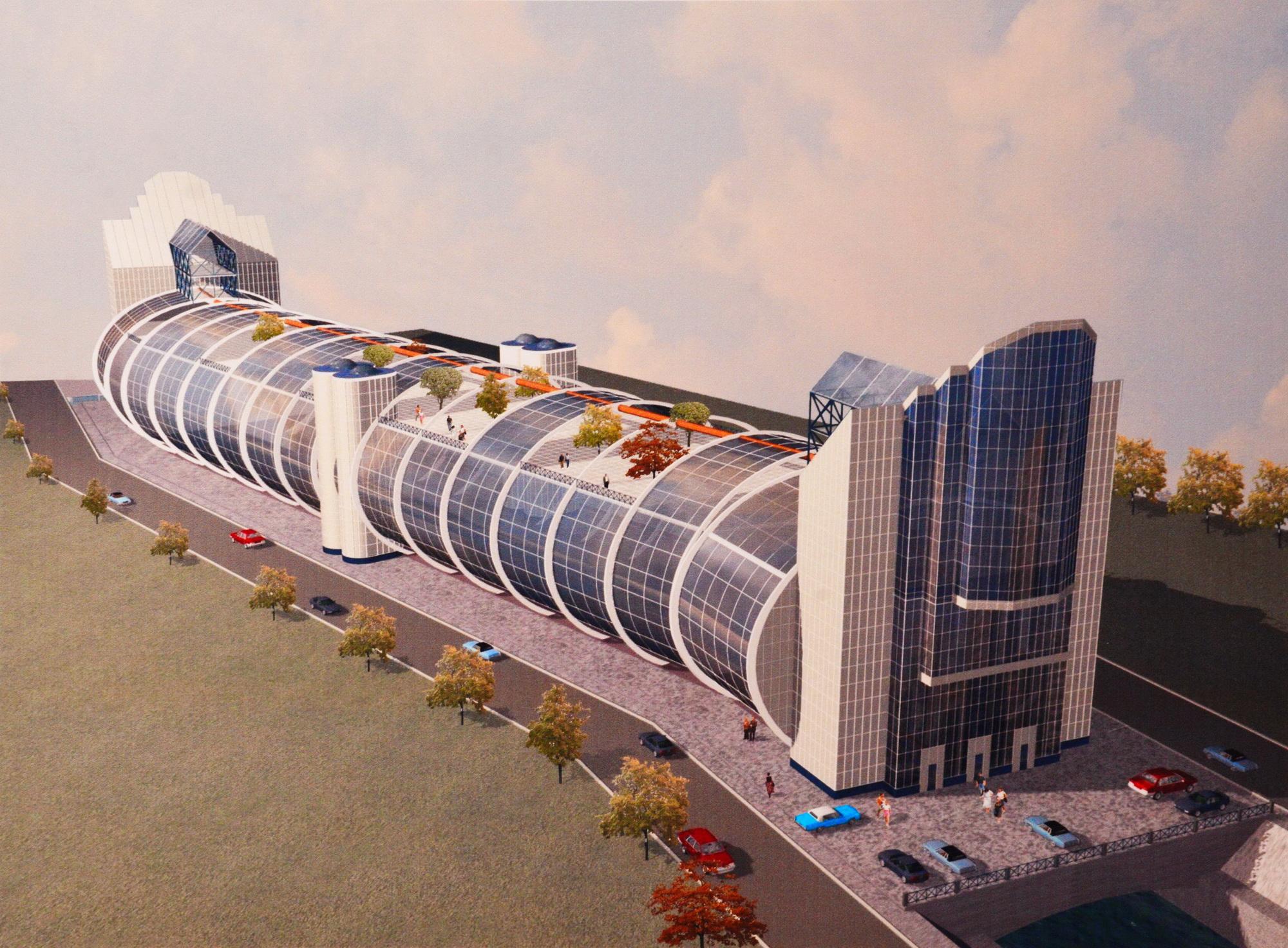 Многоэтажный парковочный комплекс