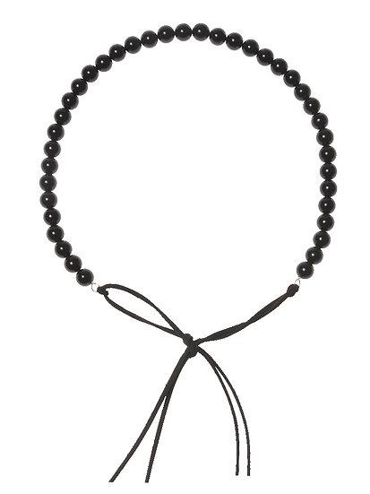 SORAYA Hairband/Necklace in ONYX round