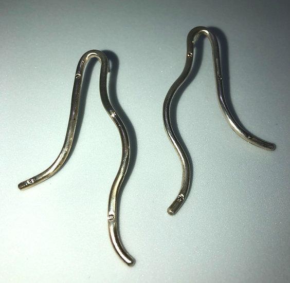 Silber Ohrringe mit 8 Diamanten (0,08 Karat) CONCETTA Short