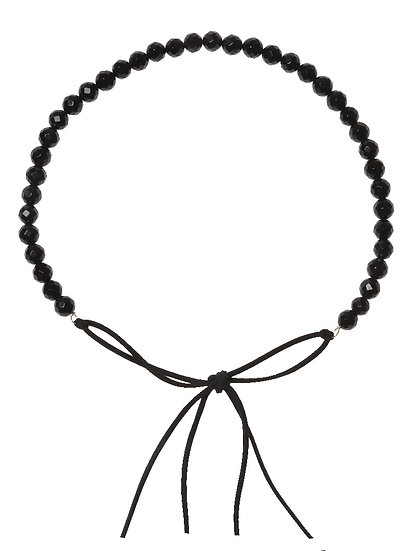 SORAYA Hairband/Necklace in ONYX facetted