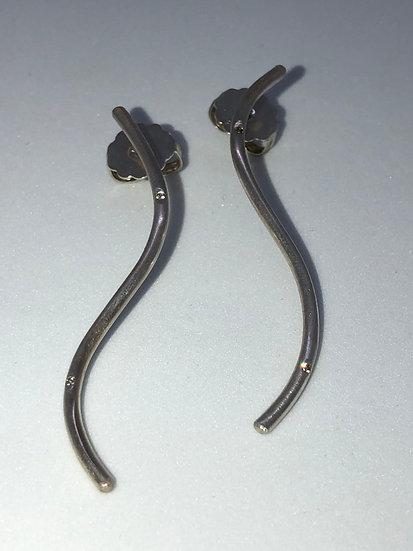 Silber Ohrringe mit 4 Diamanten (0,04 Karat) CLOTILDE short