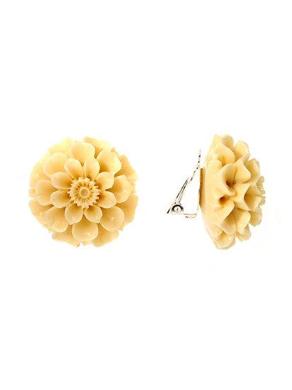 GORGONIA Ear clips IVORY