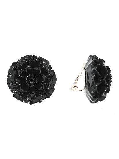 GORGONIA Ear clips BLACK