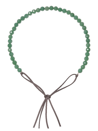 SORAYA Hairband/Necklace in AVENTURINE