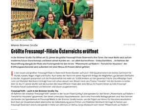 Die größte Fressnapf-Filiale in Österreich unterstützt den Pfotemarkt auf Rädern