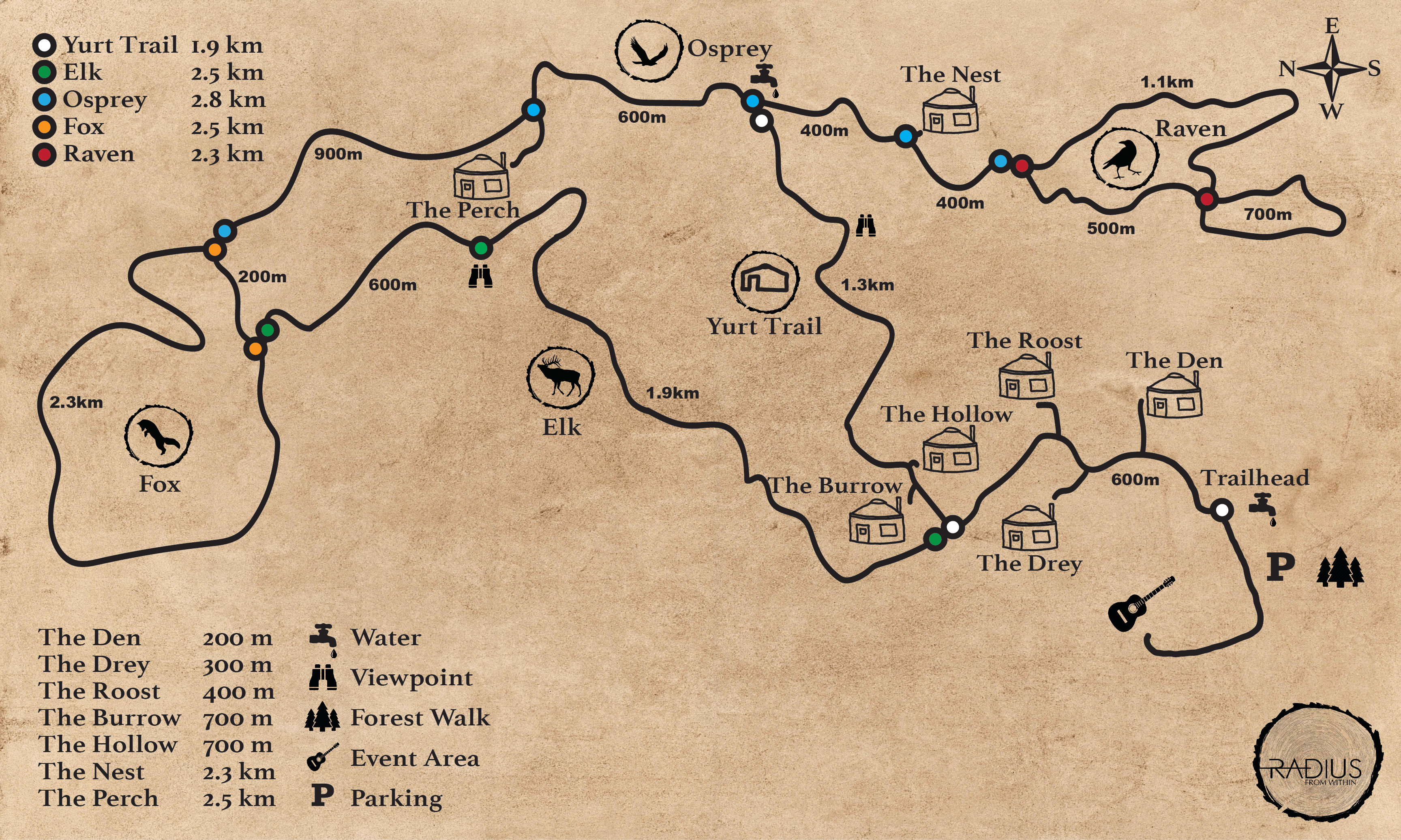 Radius Trail Map