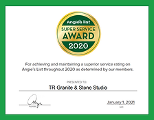 Angies List Super Service Award 2020 TR Granite