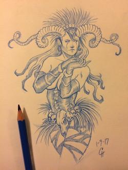 Witch sketch 1-9-17