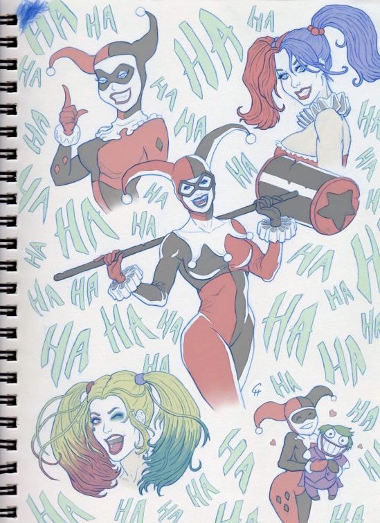 Harley Quinn Drawings